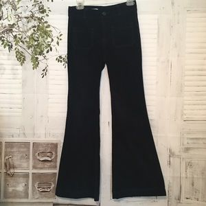 Anthropologie high rise bell bottom corduroy pants